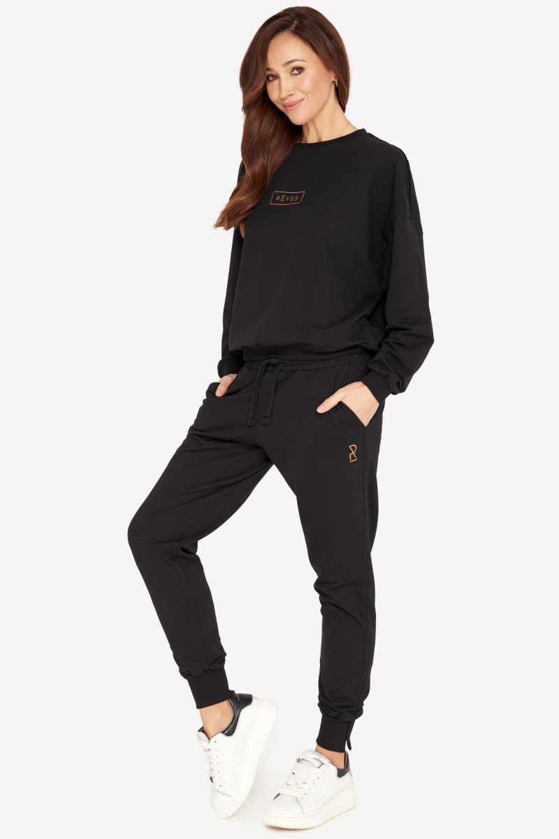 SPODNIE  SLIM PANTS - BLACK
